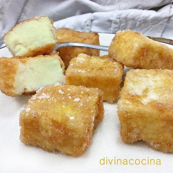 Esta es la receta tradicional de la leche frita, aunque existen muchas muchas formas de prepararla por toda la geografía española.