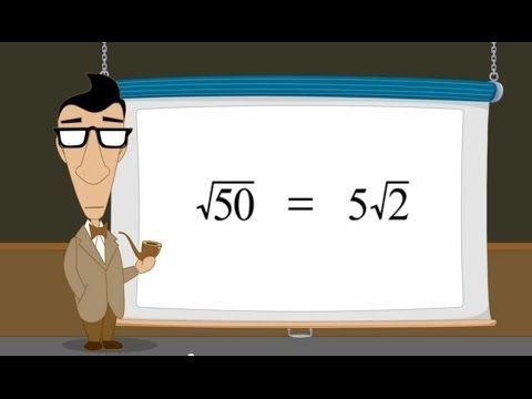 ▶ Pre-Algebra 31 - Simplifying Radical Expressions - YouTube