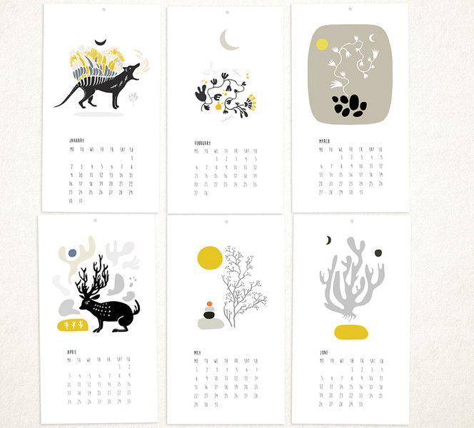 Kalendarze 2017. Wilk Tasmański.