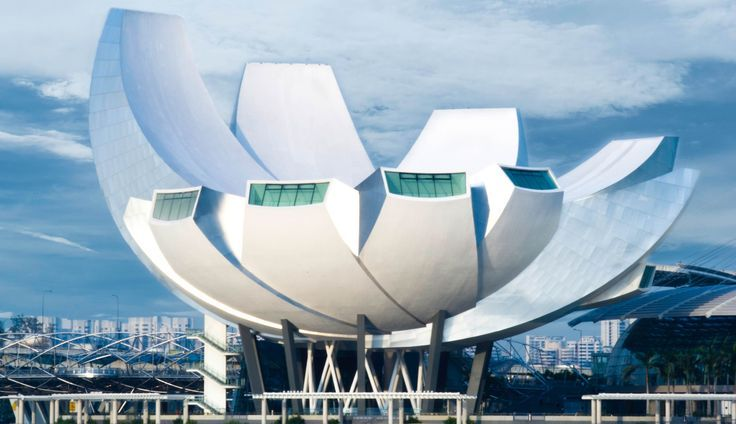 Designed after a lotus by renowned architect Moshe Safdie, the ArtScience Museum in Singapore is the world's first museum which displays exhibits from combined art/science, media/technology, as well as design/architecture motifs.  Book your vacation today: http://www.colorfulvacations.com/singapore-tour-packages/index.php