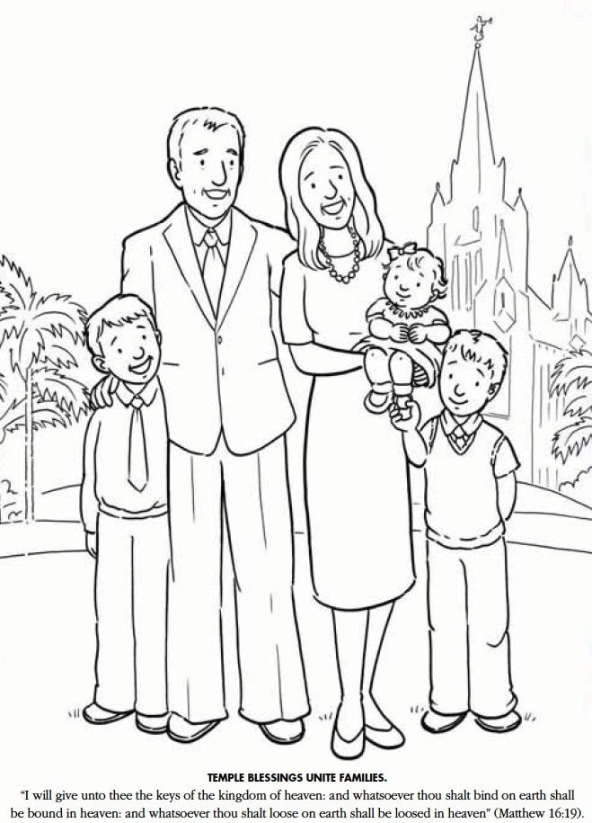 lds family coloring pages - lds games color time temple blessings unite families