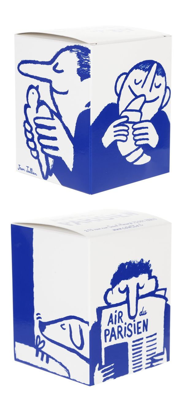 Jean Jullien. Candle packaging for French store Colette. Candle smells like Paris!