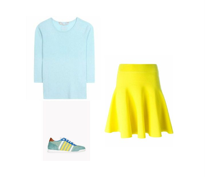 Casual Monday: sweater 81 Hours, skirt P.A.R.O.S.H., sneakers Dsquared2
