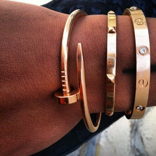 Cartier: Arm Candy, Gold Bracelets, Cartier Bracelets, Love Bracelets, Bangles, Bling Nails, Arm Parties, Cartier Love, Rose Gold