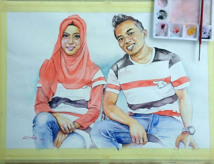 #Watercolor #painting 2017 @kokoponiman