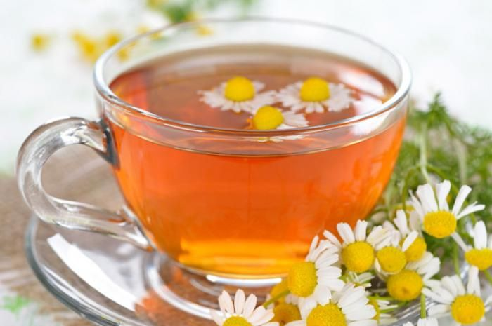 Chamomile Tea can relieve depression, anxiety and panic, while promoting healthy sleep. Combine 1 1/2 cups almond milk, 1 tab chamomile flowers, and 1 tsp lavender in a small saucepan. Cover and cook over very low heat for 15 to 20 minutes. Strain and stir in honey if desired.