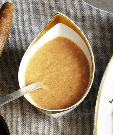 Make Monday night and refrigerate! Danny Meyer jus bacon gravy...prepare up to 3 days early!
