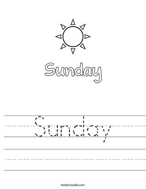 Sunday Worksheet - Twisty Noodle | Worksheets, Handwriting ...