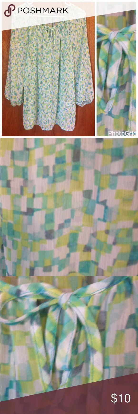 Sheer blouse by Liz Claiborne size XL Pretty sheer blouse by Liz Claiborne size XL Liz Claiborne Tops Blouses