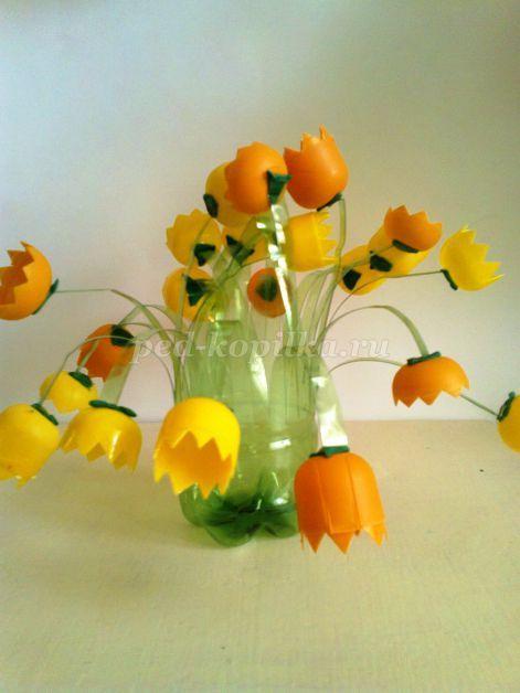 Цветы своими руками из бросового материала