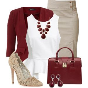 Red White & Nude. Isn't this super classic. Love it. Wear to the bank, church, meeting...etc! ~KRES~