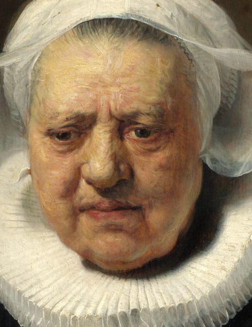 Rembrandt Van Rijn - 1606/1669, Netherlands - 'Portrait of Aechje Claesdr (1634).
