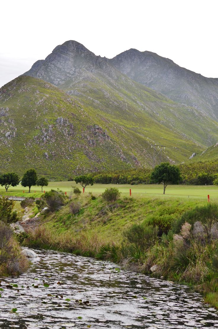 Kleinmond Golf Course - right next to the mountains and valleys of the Kogelberg…