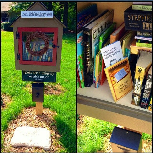 """A couple months ago I placed a bible teach book along with a jw.org track in two separate """"free little libraries"""" in our territory of Roswell, Georgia. When I returned both had been taken to read! :D..."""