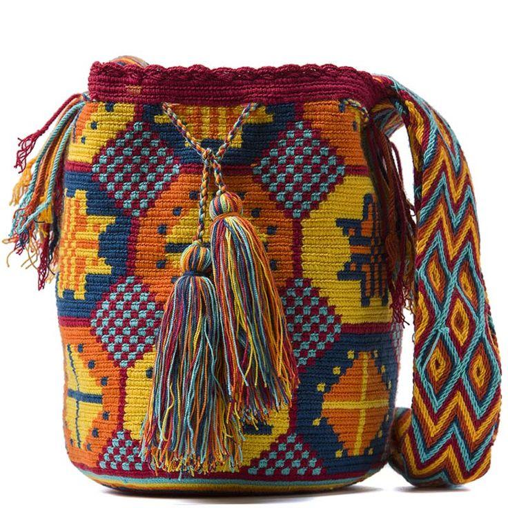 comprar bolso wayuu, wayuu, croche, bolsos hecho a mano. @miangelwayuu