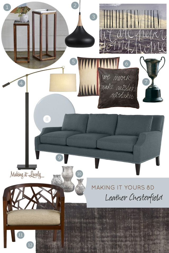 Making it Yours 8D: Leather Chesterfield | Making it Lovely neutral sofa