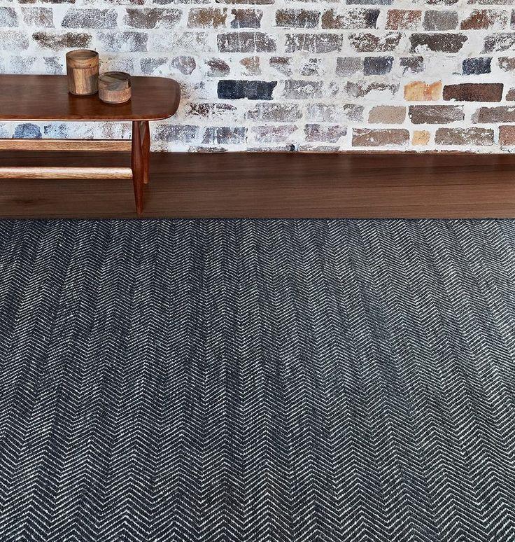 Armadillo&Co Herringbone Weave Rug- Charc/Limestone