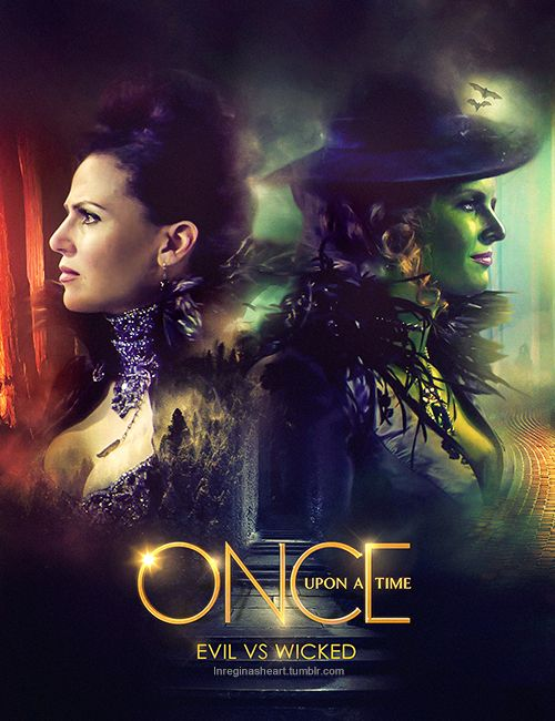 """༻⚜༺ ❤️ ༻⚜༺ Evil Vs Wicked   Zelena~""""The Wicked Witch Of The West"""" (Rebecca Mader) & """"The Evil Queen"""" Regina Mills (Lana Parrilla)    Once Upon A Time ༻⚜༺ ❤️ ༻⚜༺"""