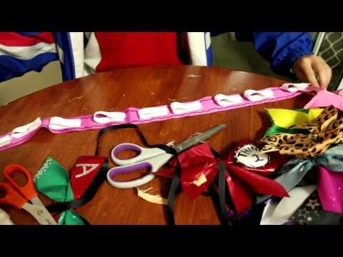 How To Make A Cheer Bow Holder - YouTube