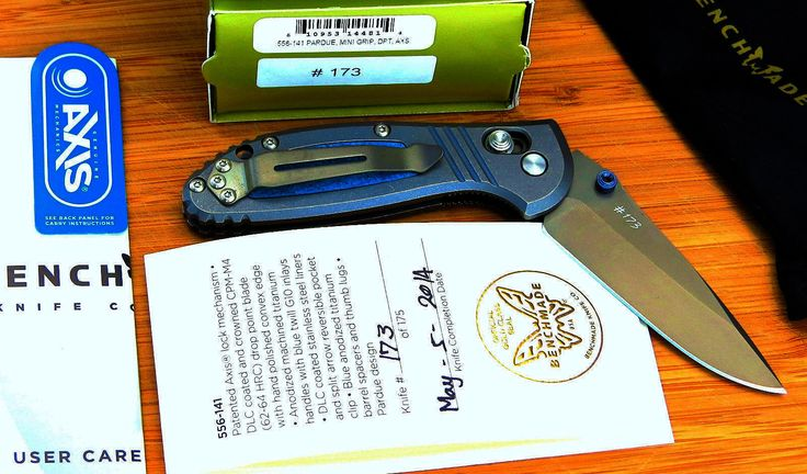 Rare Benchmade Mini Griptilion Steel Folding Knife.This is a Limited Production knife with number #173 of only 175 made. Price $644.27