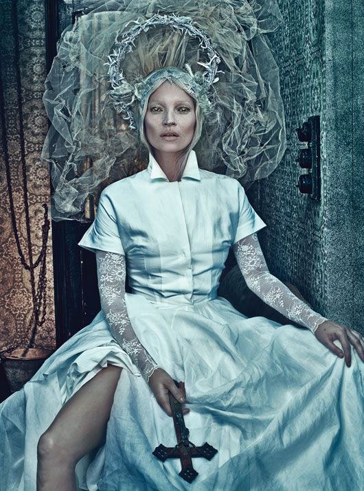 Kate Moss for W Magazine. Photography by Steven Klein. Styled by Edward Enninful.