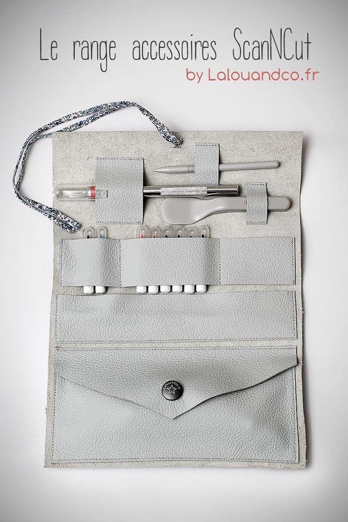 Le range accessoires #ScanNCut #DIY #pochette #couture