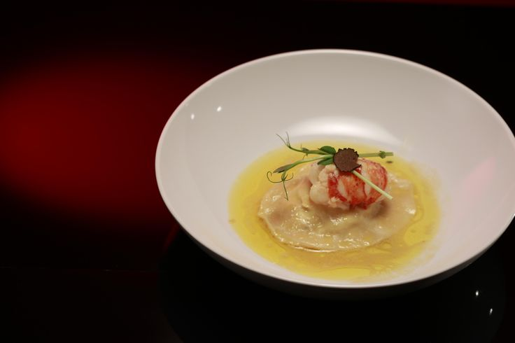 Ep 14 Chloe and Kelly: Poached Marron on Crab Pillow with Truffle Emulsion