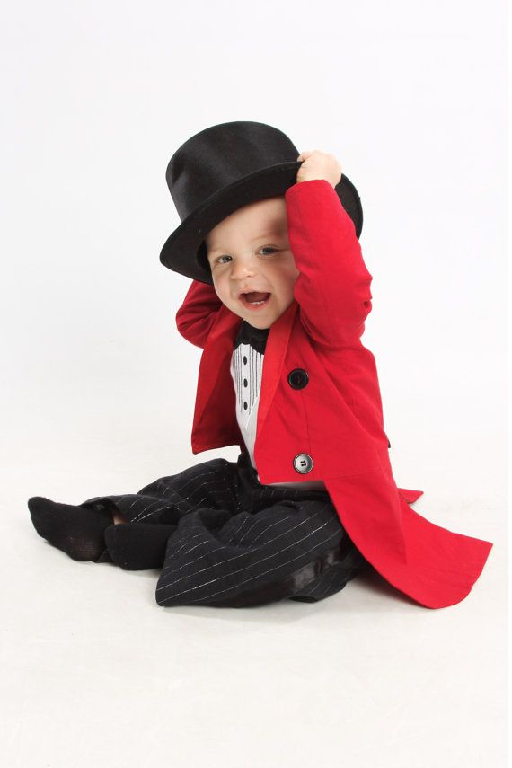 Ringmaster Costume Tuxedo Jacket Fully Lined by CupcakesAttic