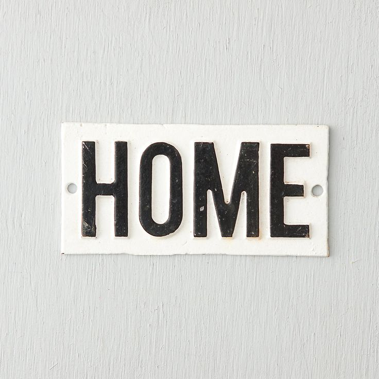 I really like this sign.  I could hang it in the kitchen or above the front door.   Cast Iron Home Sign in House+Home HOME DÉCOR Wall Décor Art+Décor at Terrain