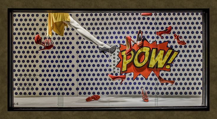 17 Pop Art Inspired Window Displays Designed by FIDM Visual Communication Students