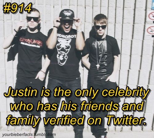 WWOOOOOOOOW But Why Arent Beliebers Verified?? Were Part Of His Family. XD