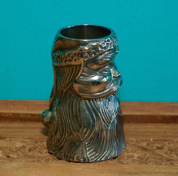 Metal Shot Glass  Santa Shot GlassPewter Saint Nicholas