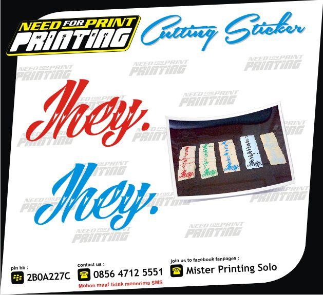 Mau Cetak Segala Macam Sticker ( Sticker Mobil, Striping Motor, Sticker Transparant, Sticker Cutting, Sticker Anti Air, Sticker Kaca, Sticker Kertas, Sticker Label, Sticker Segel, Sticker Helm, dll...