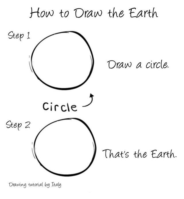 how to draw earth easy