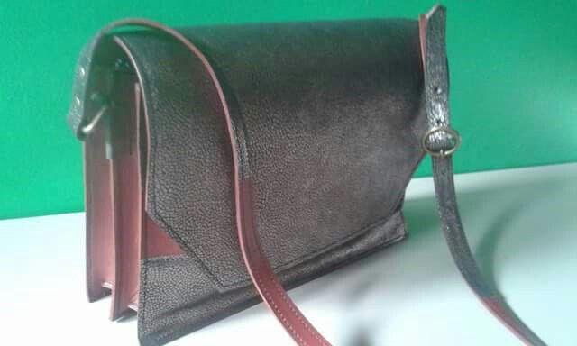 Handgemaakte handtas- atelier bosman  Leather handbag