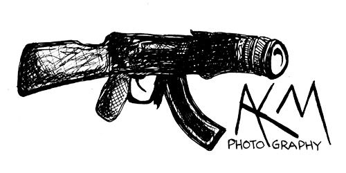 "AKM Photography | Horrible Logos  This is on a ""horrible logos"" site, but it has my initials, plus a gun (badass) to go along with my nickname, andrea ""killer"" mabry"