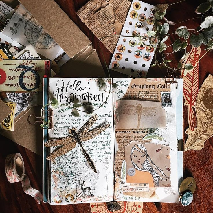 """140 Likes, 5 Comments - Tina (@pastelpaperplane) on Instagram: """"• This is the very first #journalpage I created live & in company of the adorable @mandyisonfire …"""""""
