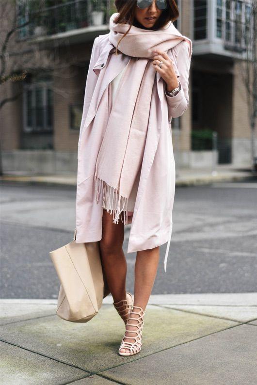 Ultra-feminine + blush Valentine's Day outfit