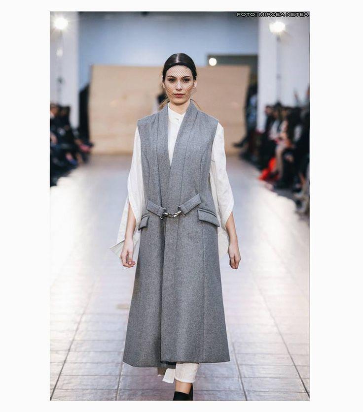 Andreea Castrase Grey wool vest