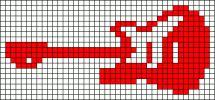 musique - music - guitare - point de croix - cross stitch - Blog : http://broderiemimie44.canalblog.com/