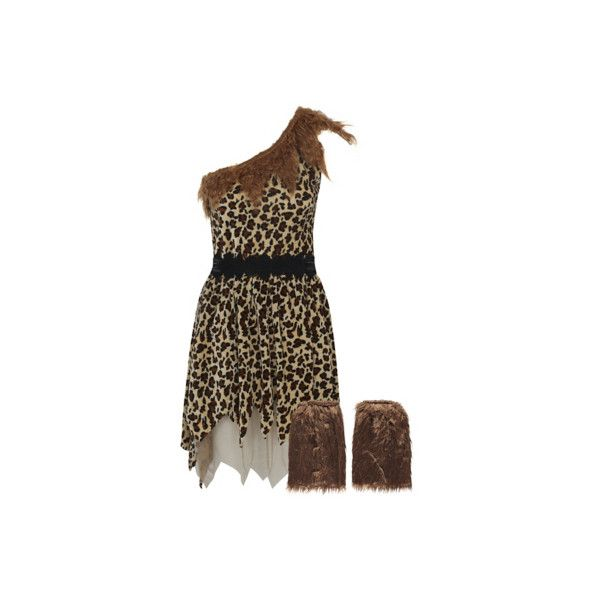 George Adult Cave Woman Fancy Dress Costume ($20) ❤ liked on Polyvore featuring costumes, chocolate, adult leopard costume, adult halloween party costumes, cavewoman halloween costumes, cavewoman costume and party costumes