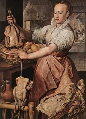Joachim Beuckelaer The Cook 1574 Painting Reproduction On Artclon For Sale | Buy Art Reproductions The Cook 1574