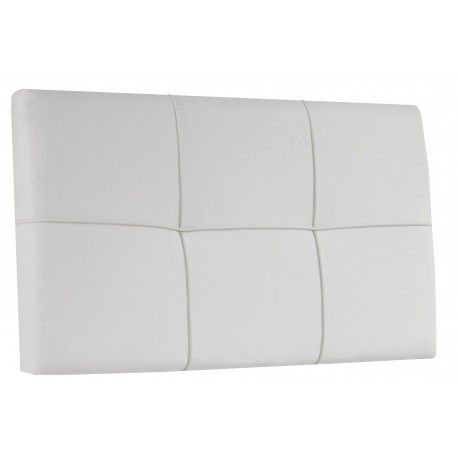 Cabecero Tapizado de Colgar Square tapizados en piel sintética en blanco, chocolate o morado es ideal para tu habitación disponible para cama de 150 cm o de 90 cm.