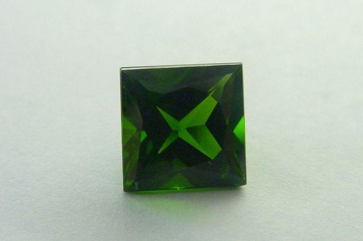 1.76 Ct Prince Square Shape 7 x 7 MM 100% Natural Green Chrome Diopside Gemstone #KinuBabaGems