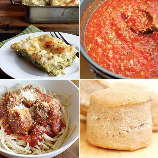 Pesto Lasagna and Skinny Italian Spinach Meatballs Delicious links for ...