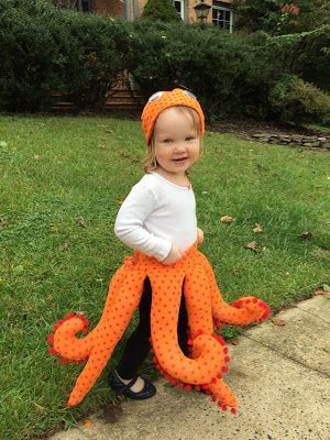 Octopus Costume for Toddlers || bonnieprojects.blogspot.com || except wear matching t-shirt & leggings