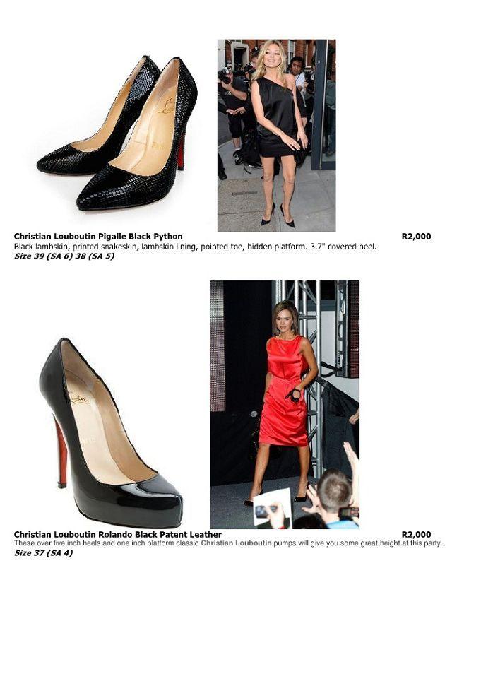 christian louboutin 3 inch heels