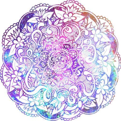 Pretty Mandala Layered With Photoshop doodle mytumblr