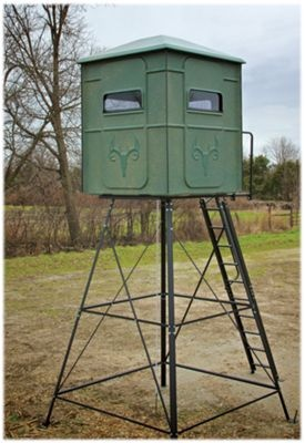 Redneck Blinds Trophy Tower Hunting Blind With 10 Stand