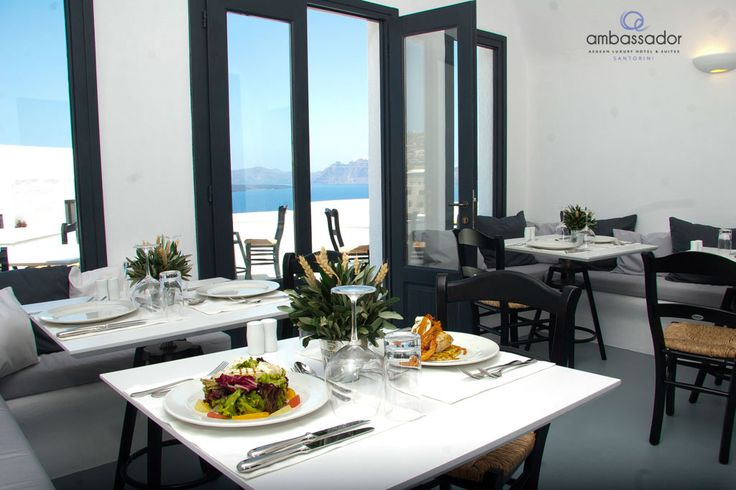 Dishes cooked to perfection, views to the azure sea and an inspiring atmosphere compose the ideal culinary experience.  #Santorini   #dining